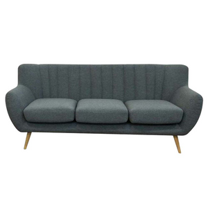 Lilly 3-Seater Sofa - Dark Grey