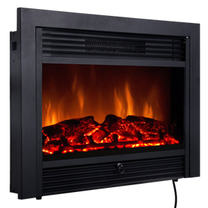 28.5'' Insert Recessed Mounted Standing Fireplace Heater with 3 Flame Option