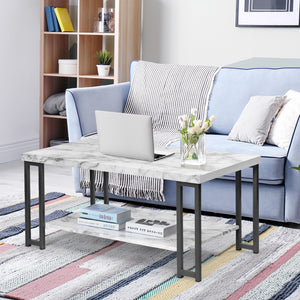 Accent Cocktail Table Coffee Table w/ Storage Shelf