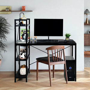 "47.5"" Writing Study Computer Desk with 4-Tier Shelves"