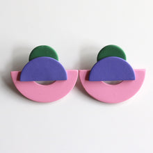 Load image into Gallery viewer, Arca Studs in Lavender & Rose