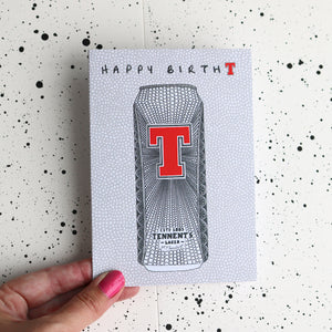 Tennents Birthday Card