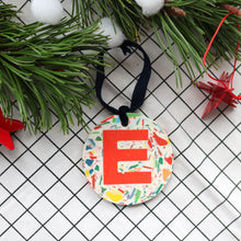 Load image into Gallery viewer, Personalised Christmas Decoration - Signature Base & Red Letter