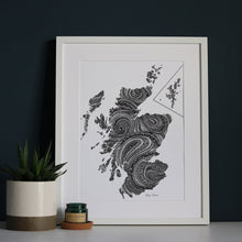 Load image into Gallery viewer, Map of Scotland Print | Masterpiece Collection | Fine Art Giclée