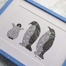 Load image into Gallery viewer, Penguin Family Print