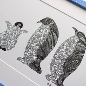 Penguin Family Print