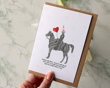 "Load image into Gallery viewer, Duke ""Cone on ma Heid Poem"" Valentines Day Card"