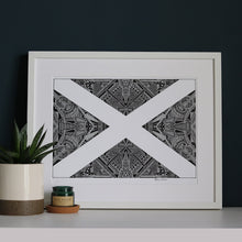 Load image into Gallery viewer, Saltire Flag Print | Masterpiece Collection | Fine Art Giclée