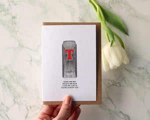 "Tennents ""I love Big Juicy Poem"" Valentines Day Card"