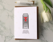"Load image into Gallery viewer, Tennents ""I love Big Juicy Poem"" Valentines Day Card"