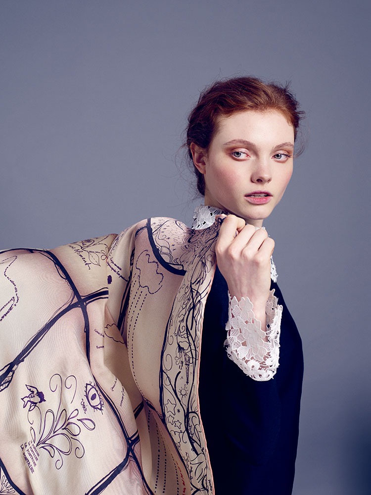 the most exquisite, luxury silk scarves