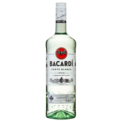 Bacardi Carta Blanca Rum 1000ml