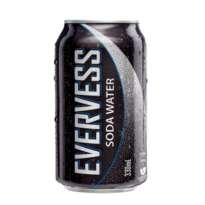 Evervess Soda Water Can 24 pack (24x330ml)