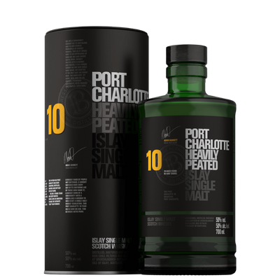 Bruichladdich Port Charlotte Scottish Barley Single Malt Whisky Aged 10 years 700ML