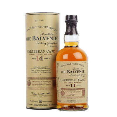 Balvenie Scotch Single Malt Caribbean Cask Aged 14yrs 700ML
