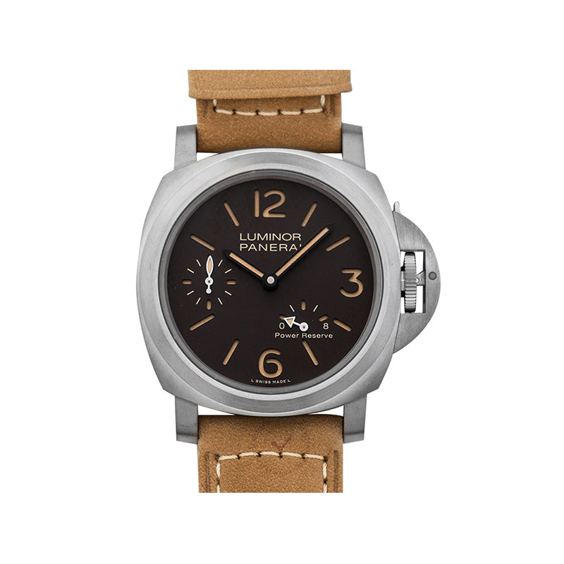 Panerai Luminor 8 Days Power Reserve Manual-winding Brown Dial 44 mm Men's Watch