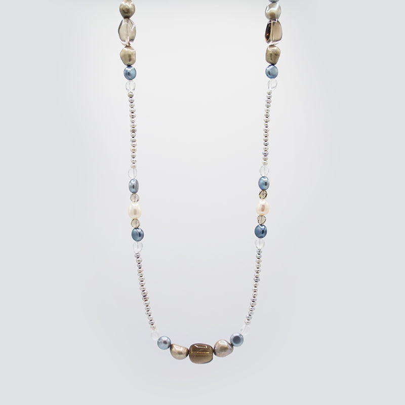 Freshwater Pearl & Natural Gemstones Necklace CE3007