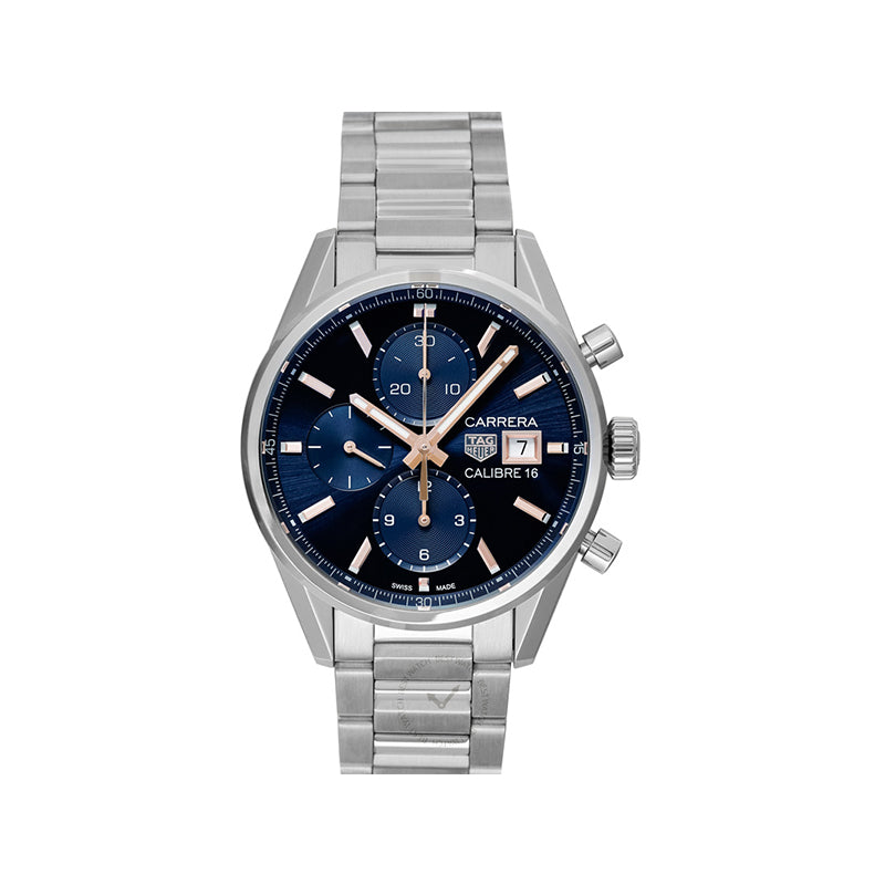 TAG Heuer Carrera Calibre 16 Chronograph Automatic Blue Dial Men's Watch