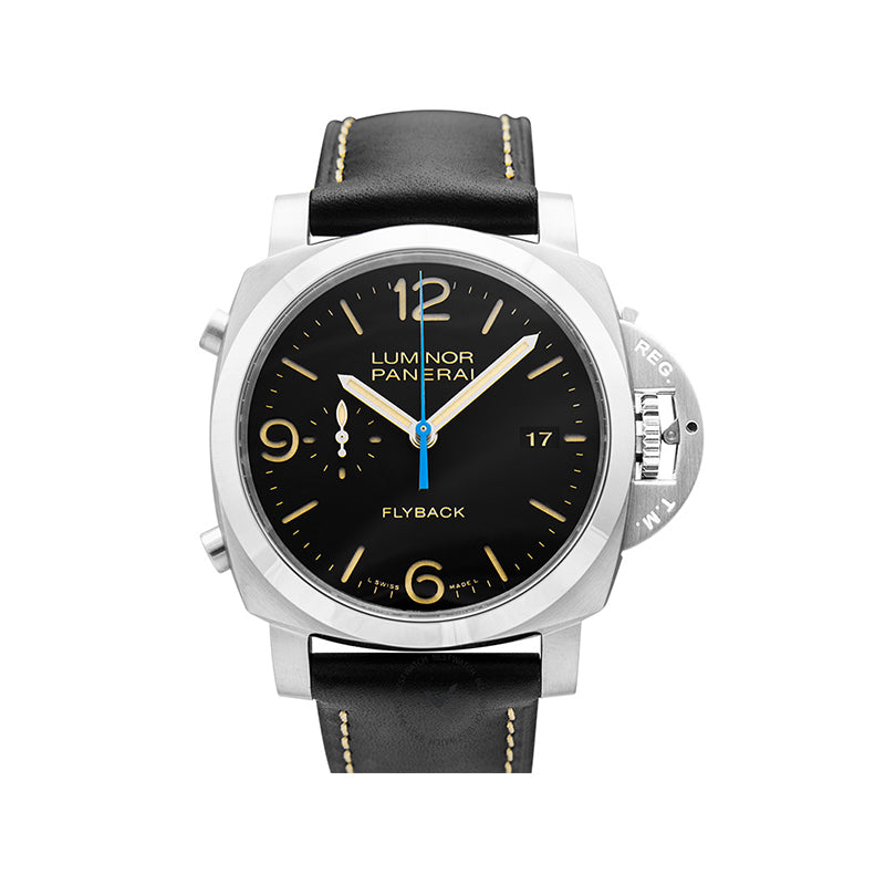 Panerai Luminor Chrono Flyback Automatic Black Dial 44 mm Men's Watch