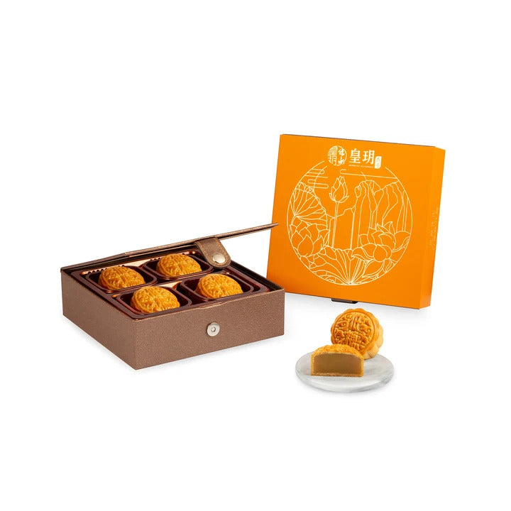 Low Sugar Series - Low Sugar White Lotus Seed Paste Mooncakes with Egg Yolk Mooncake