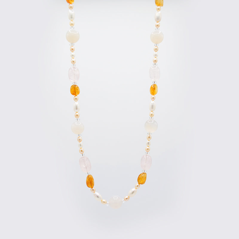 Natural Gemstones & Freshwater Pearl Necklace CE3009