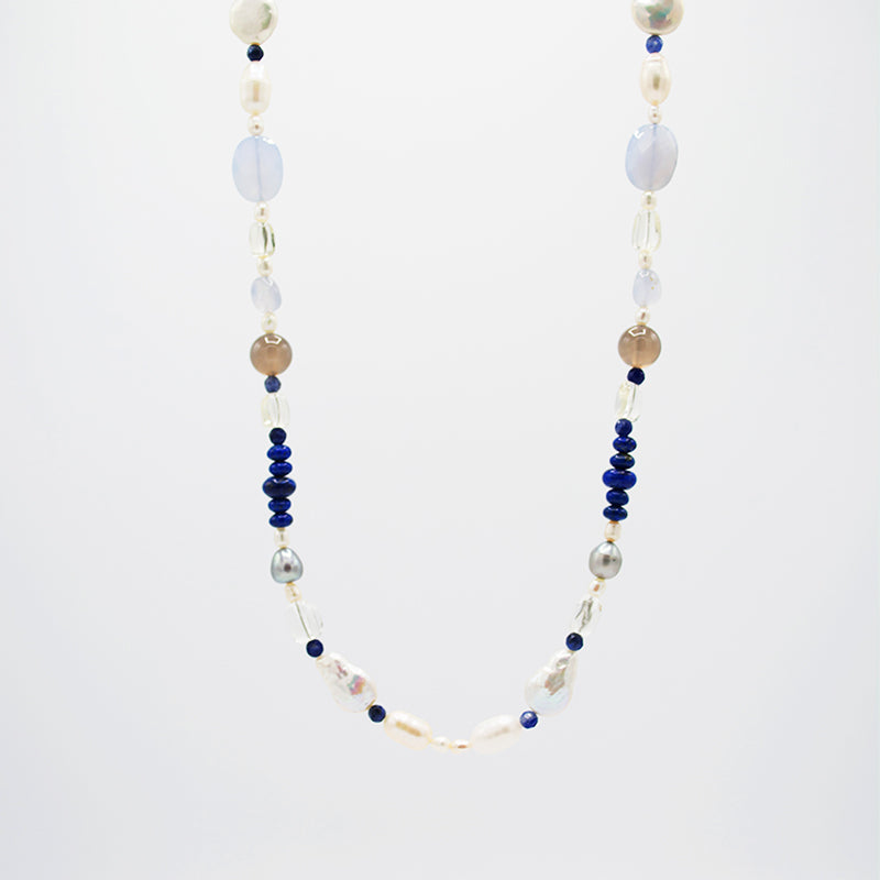 Freshwater Pearl & Agate Necklace CE3003