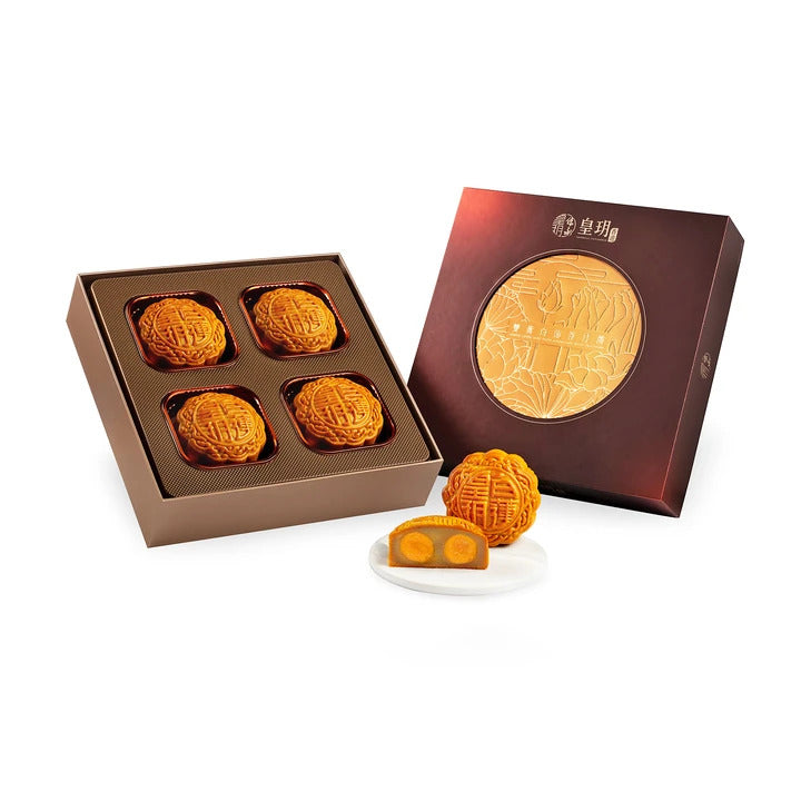 Traditional Series - White Lotus Seed Paste Mooncakes with Two Yolks Mooncake