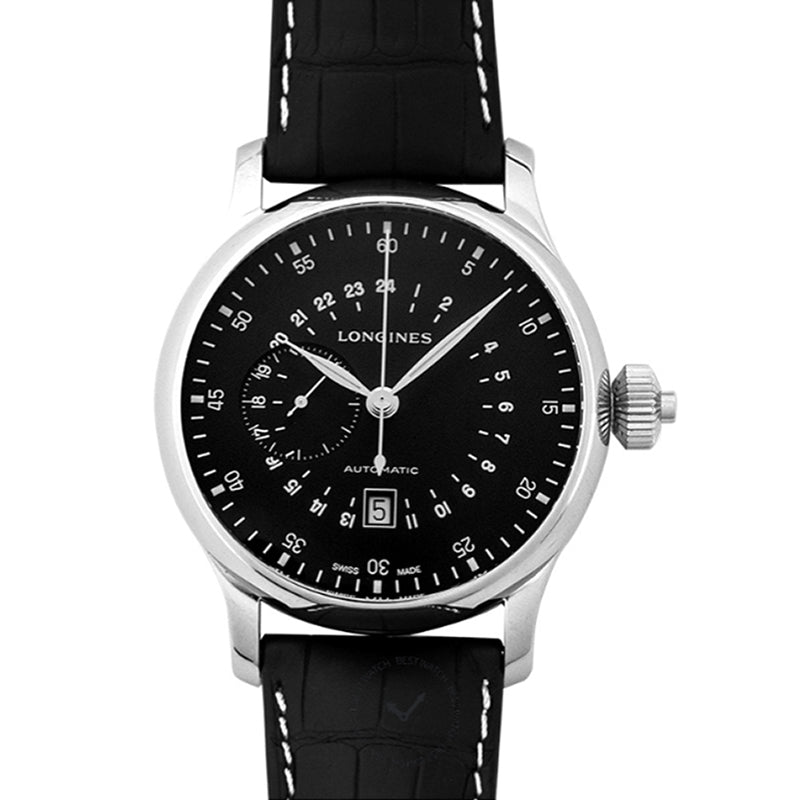 Longines Heritage Avigation Black Dial Automatic Men's Watch 47.5MM