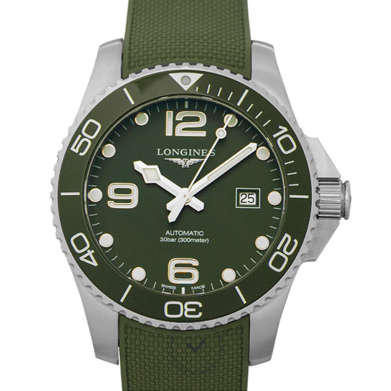 Longines HydroConquest Automatic Green Matt Dial Men's Watch