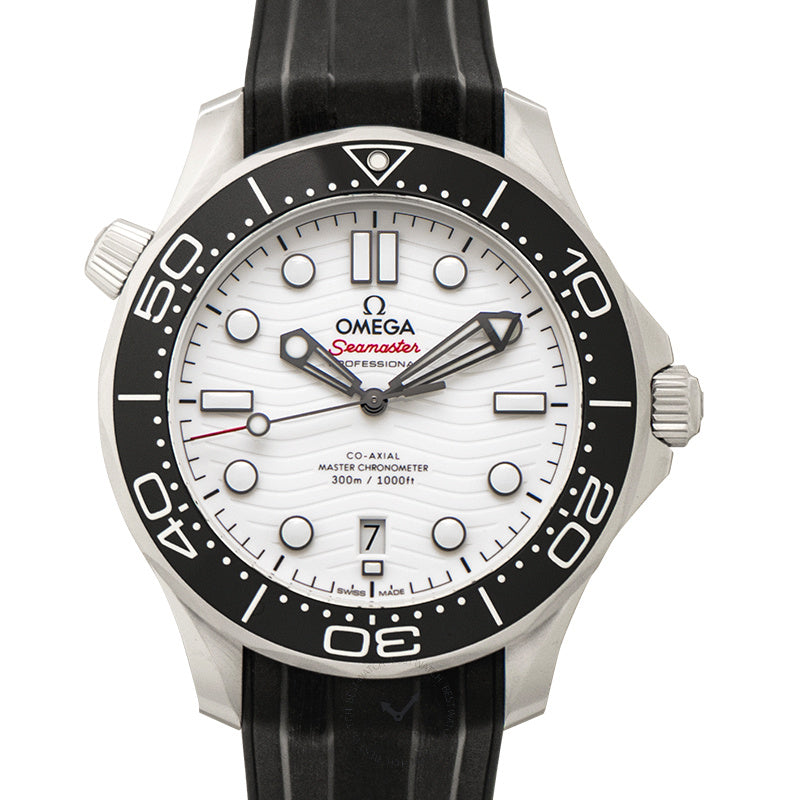 Omega Seamaster Diver 300m Co-Axial Master Chronometer 42mm Automatic White Dial Steel Mens Watch
