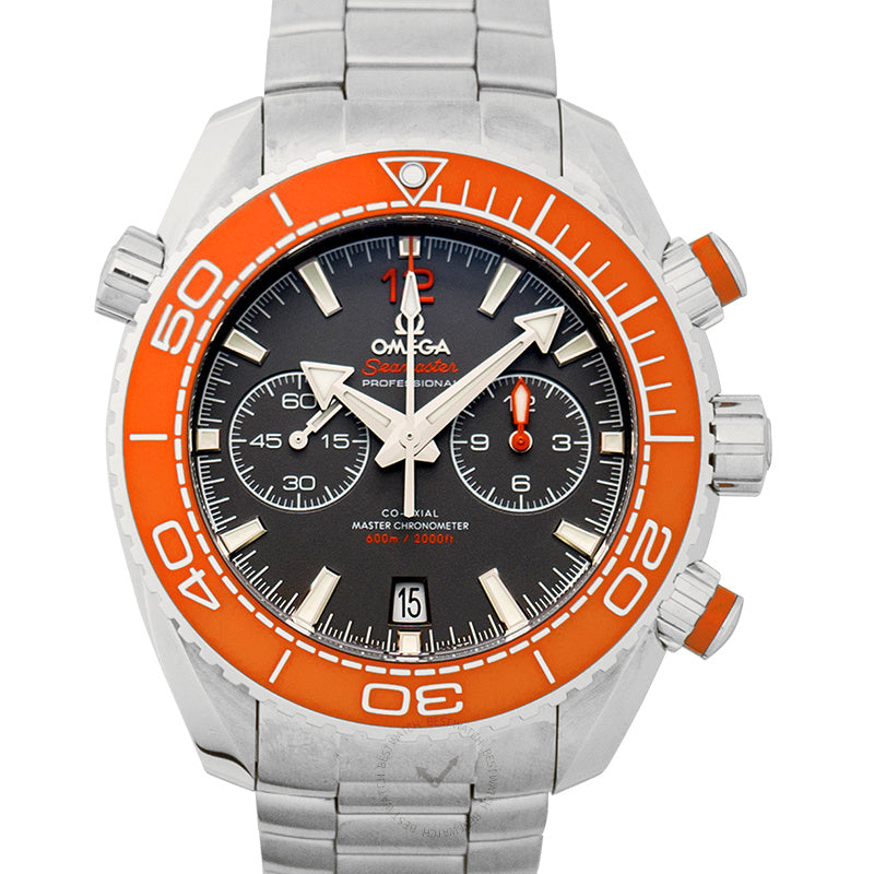Omega Seamaster Planet Ocean 600M Co-Axial Master Chronometer Chronograph 45.5 mm Automatic Grey Dial Steel Mens Watch