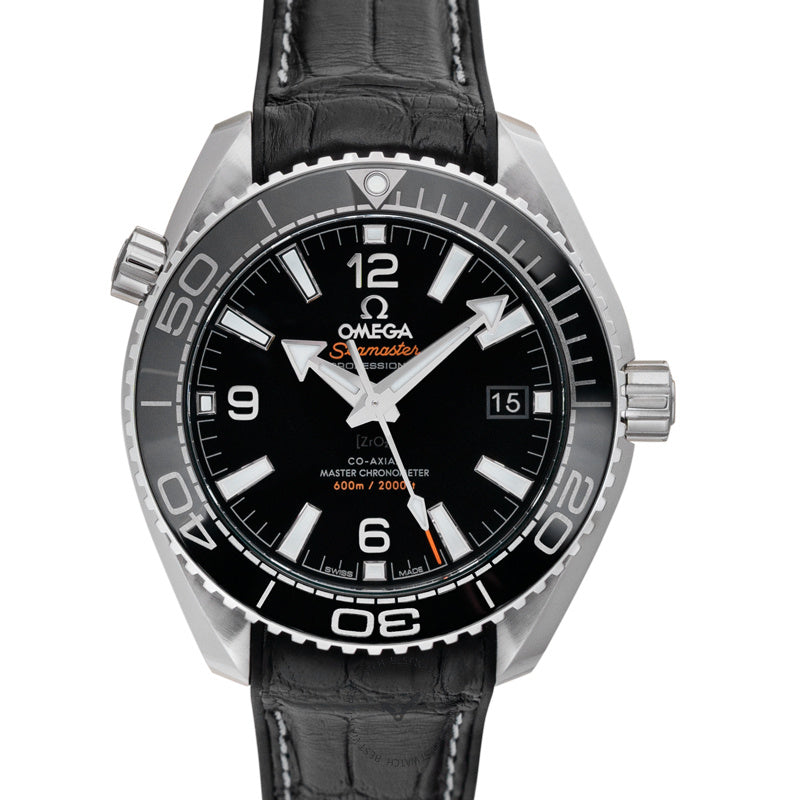 Omega Seamaster Planet Ocean 600m Co-Axial Master Chronometer 39.5mm Automatic Black Dial Steel Mens Watch