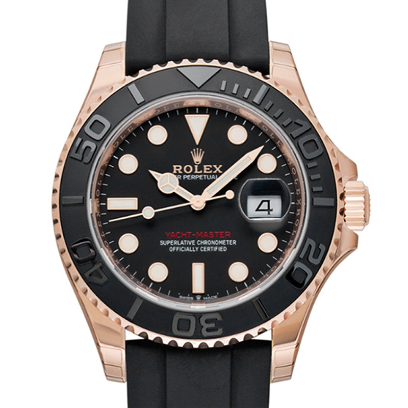 Rolex Yacht-Master 40 Automatic Black Dial 18 ct Everose Gold Men's Watch