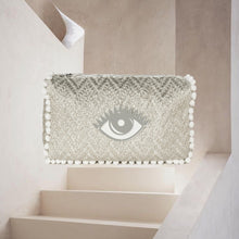 Load image into Gallery viewer, Olivia | Silver Knit Eye Pouch