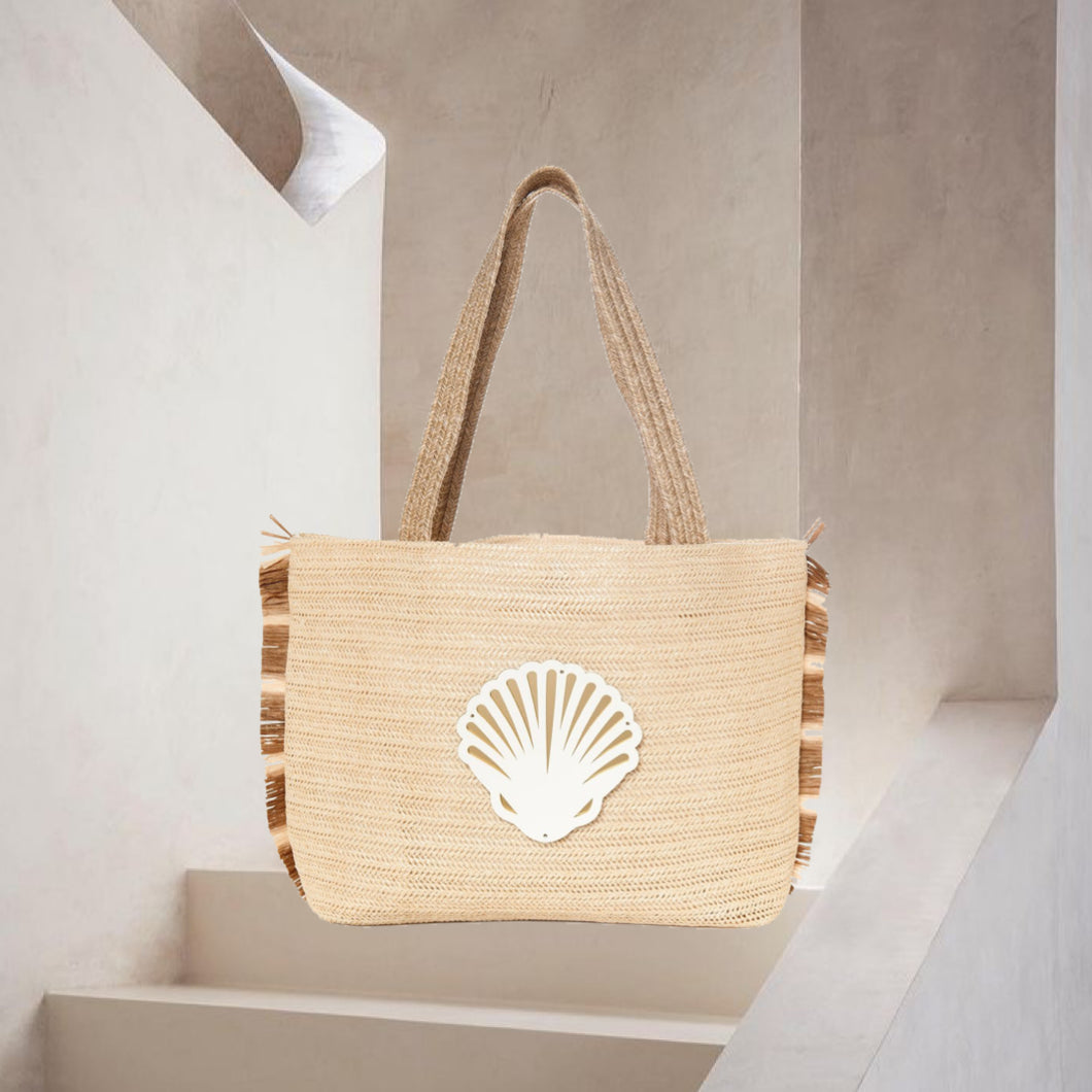 Chloe |  Naked Cream Coral Tote Bag