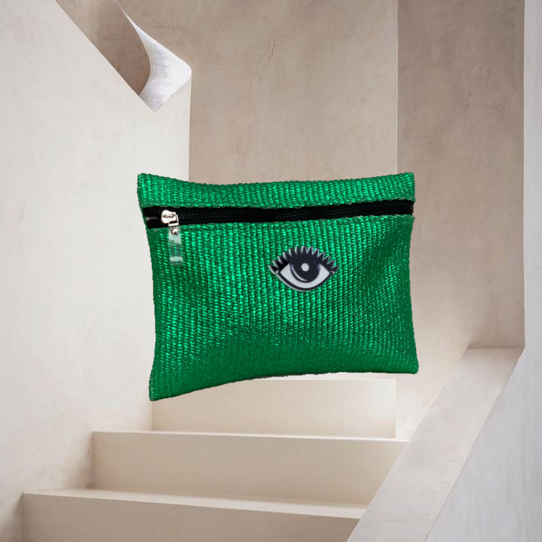Violet | Green Metallic Eye Pouch
