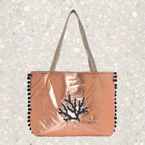 Chloe | Rose Gold Pillow Tote Bag