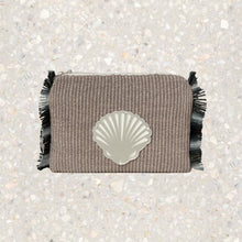 Load image into Gallery viewer, Melissa | Grey Raffia Shell Pouch