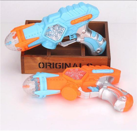 Image of Electric Toy Gun Space Snowflake Music Sound Light Gun Rotating Projection