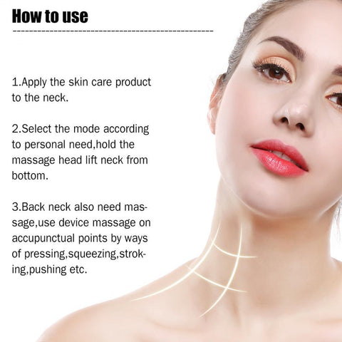 Image of LED Neck Massager Photon Therapy Vibration Wrinkle Removal Massage Machine Neck Skin Tighten Firming Lifting Beauty Skin Device