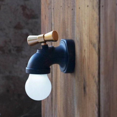 Tap Night Light Tap Lamp Creative Retro Intelligent Sound And Light Control Induction