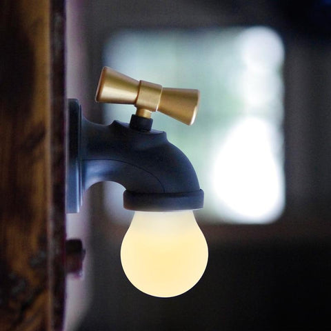 Image of Tap Night Light Tap Lamp Creative Retro Intelligent Sound And Light Control Induction
