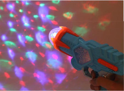 Electric Toy Gun Space Snowflake Music Sound Light Gun Rotating Projection