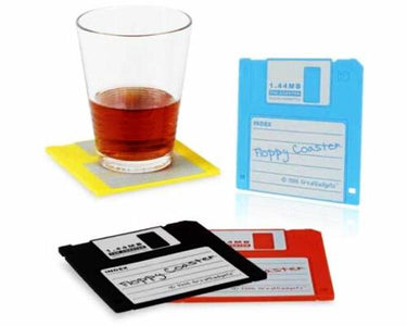 Floppy Disk Coasters / Silicone Cup Mat in Floppy Disk Design