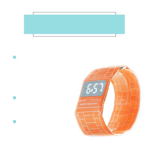 Fashion & Creative waterproof smart paper watch