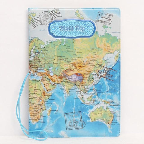 Image of World Map Passport Cover