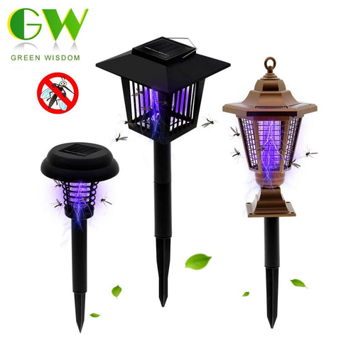 Image of Solar Powered Mosquito Killer Outdoor Lamp