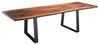 Live Edge Walnut Bookmatch Dining Table with Metro Base