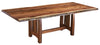 Live Edge Walnut Dining Table with Boulder Creek Base