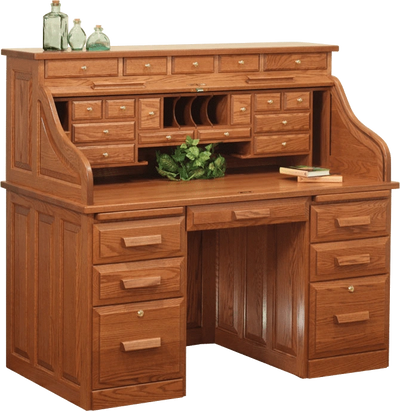 "56"" Traditional Roll-Top Desk"
